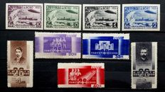 Soviet Union 1931/1933 - Airships and Commissioners Baku - Michel 402B/406B and 457/461