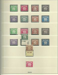Great Britain 1914/1969 - Collection of postage due - Yvert 1 to 72