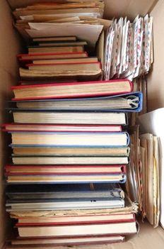 World - Extensive batch in 24 albums including 500 postal items