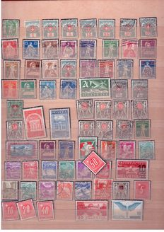 Europa stamps, Germany and USA - Batch in 2 albums, 2 cigar boxes + box