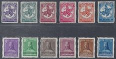Luxembourg 1934/1935 - Chidren's relief aid and Charles I - Michel 259/264 and 284/289
