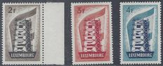 Luxembourg 1956 - Europa stamps - Michel 555/557