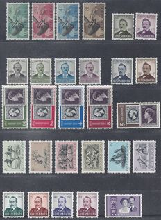 Luxembourg 1949/1953 - 10 different complete sets