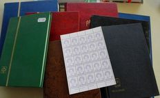 World - Remainders from Sweden, Switzerland and Netherlands, among other, in stock booklets