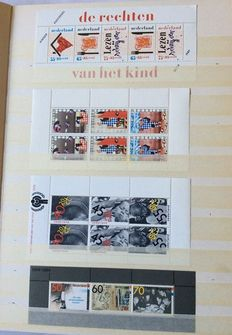 The Netherlands - Collection of Children's relief miniature sheets, Christmas sheetlets and stamp booklets in stock book