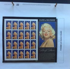 USA 1995/2000 - Collection of stamps, miniature sheets and sheetlets in Davo album