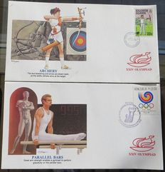 World - Batch 137 FDCs Europa stamps and Provinces and Cities + 216 FDCs Netherlands