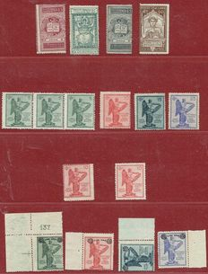 Italy 1921/1924 - Collection including varieties