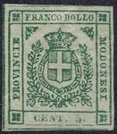 Check out our Italian States Modena 1859 - Coat of arms State - Sassone 12 with photo certificate