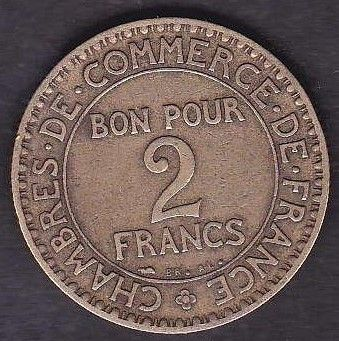 France 2 francs 1927 39 chambre de commerce de france for Chambre de commerce de france