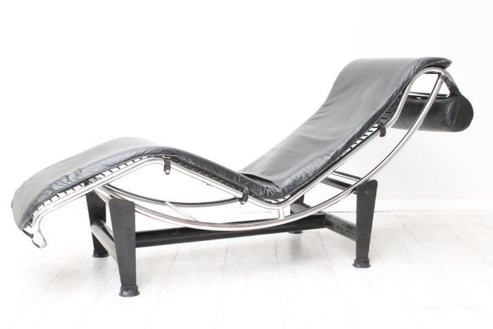 le corbusier attr voor dalmine lc4 lounge fauteuil. Black Bedroom Furniture Sets. Home Design Ideas