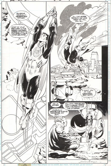 Size: 43 x 28 cm.In perfect condition.Penciller: Tom Grindberg. Inker: Bill Anderson. Comic Art
