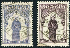 Portugal 1895 - St Anthony of Padua - Michel 122 and 123