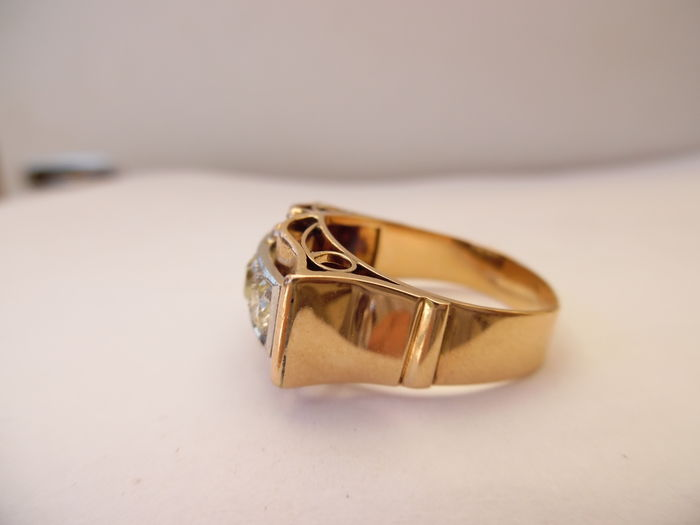 18 ct rose gold art deco ring catawiki for Deco maison rose gold