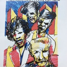 Art: Elvis and Friends by Herman Brood
