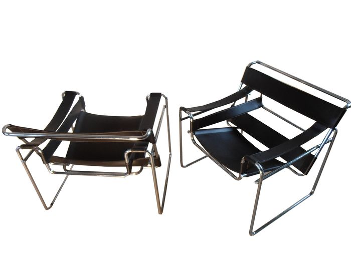 Marcel breuer set van twee wassily chairs replica catawiki - Wassily chair replica ...