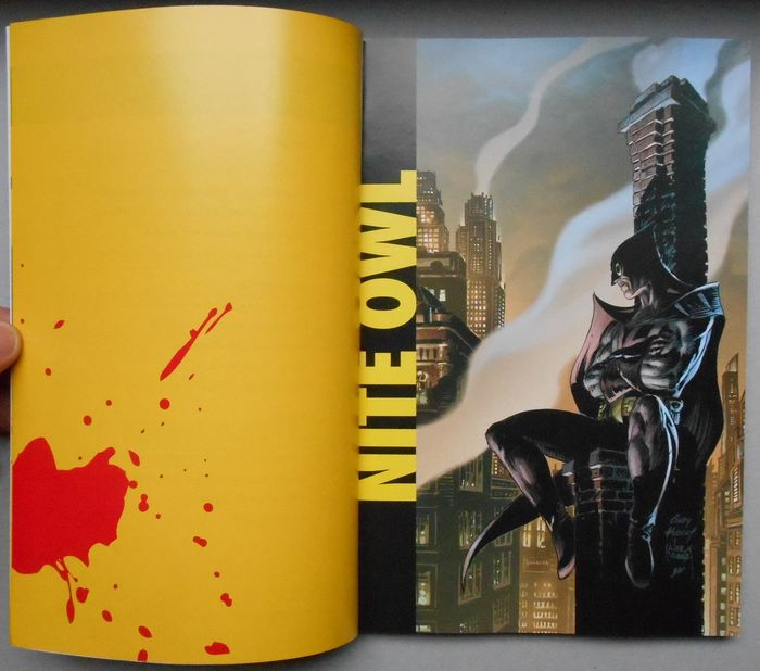 watchmen and book Watchmen: the annotated edition cover by dave gibbons a plus a watchmen timeline book type: collected edition.