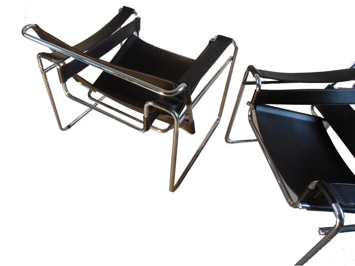 Marcel breuer set van twee wassily chairs replica - Wassily chair replica ...