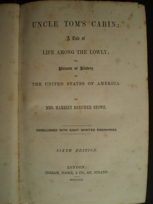 a literary analysis of uncle toms cabin Harriet beecher stowe's novel uncle tom's cabin is a landmark in two  directions it galvanized the antislavery movement at its publication and may  have been.