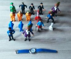 Hergé - 17 figurines + montre Tintin (1973/1994)