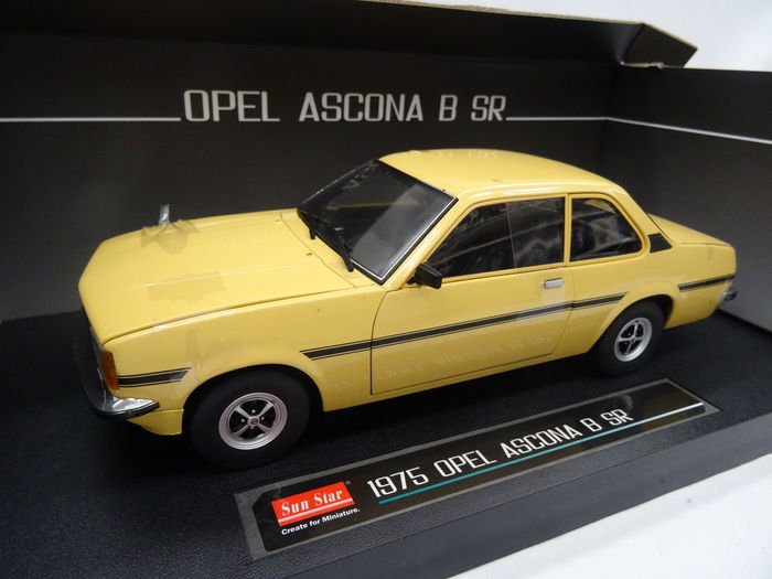 sun star schaal 1 18 opel ascona b sr 1975 kleur geel catawiki. Black Bedroom Furniture Sets. Home Design Ideas