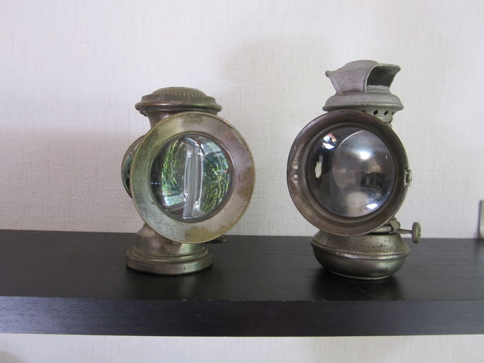 Carbidlamp En Oil Lamp Of Motor Lampen Vintage Sollux