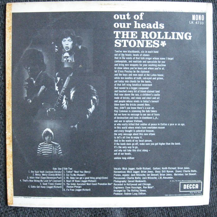 rolling stones 65 decca mono out of our heads 1e press catawiki