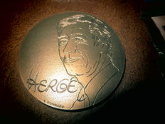 Hergé - Grote bronze medaille 150g (1992)