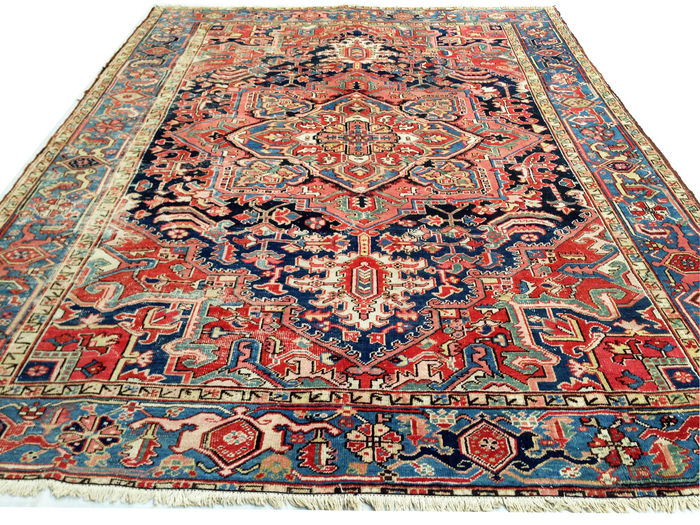 Incroyable tapis persan ancien heriz serapi 300x390 cm for Tapiz persa
