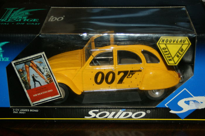 solido schaal 1 18 citro n 2cv james bond car yellow catawiki. Black Bedroom Furniture Sets. Home Design Ideas