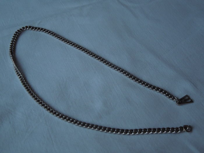 silver mens link necklace length 48 cm catawiki