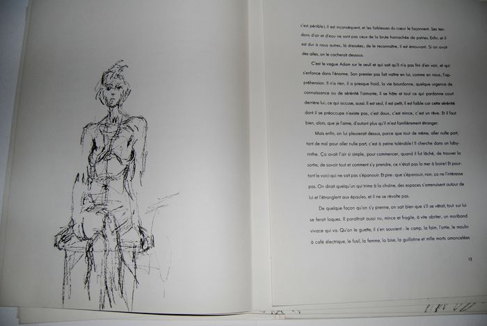 Albert giacometti 1901 1966 14 lithographs in the for Giacometti derriere le miroir