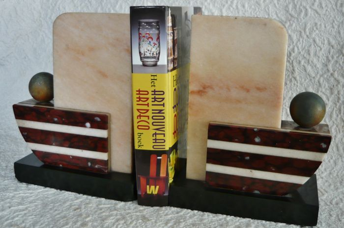 Set Of Marble Art Deco Bookends Decorative Pieces Catawiki