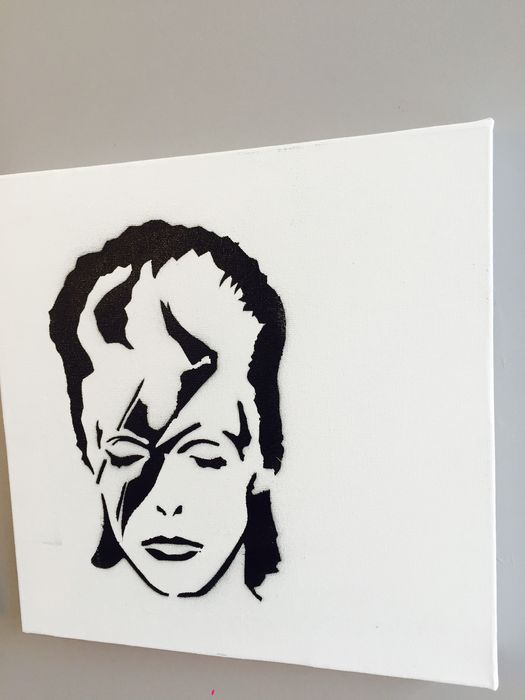 david bowie lot of 3 spray paints limited serie street. Black Bedroom Furniture Sets. Home Design Ideas