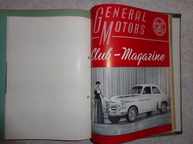General Motors Club Magazine 1948 Until 1954 Gm