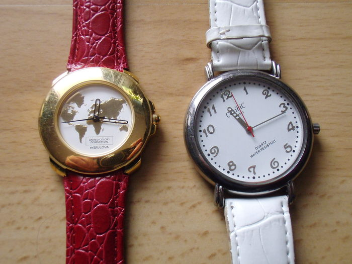 Benetton caribic lot of 2 ladies 39 wrist watches catawiki for Benetton watches