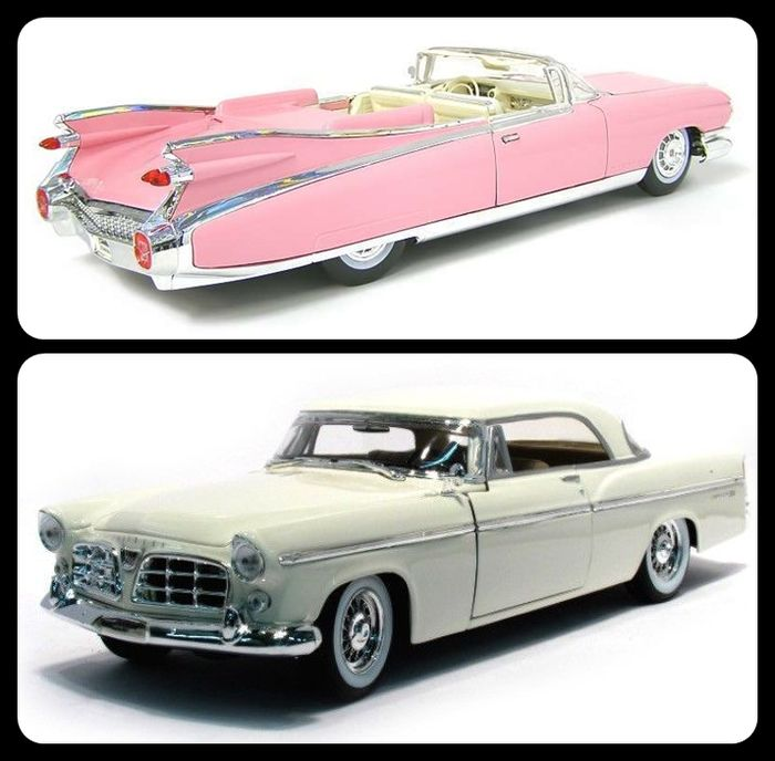 Maisto special edition scale 1 18 plot with 2 us vintage cars cadillac eldorado biarritz and - Bed met schaal ...