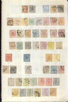 Luxembourg 1852/1957 - Advanced collection on 22 homemade pages