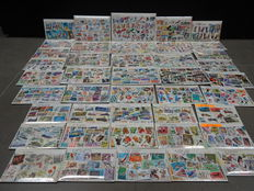 World - Batch of 42 stamp packs with topical composition