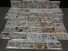 World - Batch of 40 stamp packs with topical composition