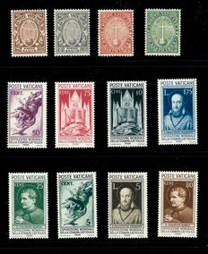 Vatican City 1933/1936 - Selection of Michel 17/20 and 51/58