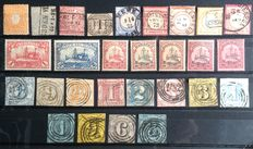 World - Batch on stock cards including Germany, Bulgaria, French colonies and more