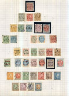 Iceland 1873/1960 - Collection on 11 homemade pages