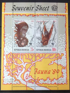 Indonesia 1966/1991 - Collection including souvenir sheets, sheetlets and many stamps in pairs