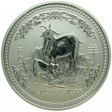 "Australië - 30 Dollars 2003 ""Year of the Goat"" - 1 kg zilver"