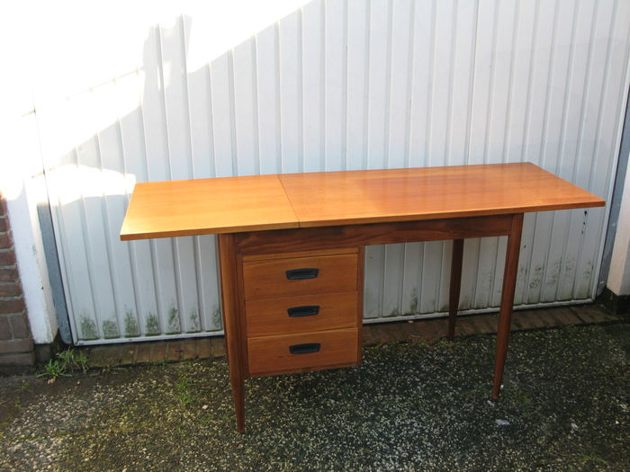 Teak bureau for Ladeblok teak