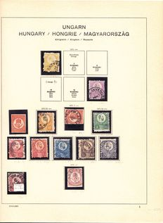 Hungary - Collection including occupation areas in Schaubek album