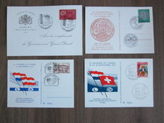 Luxembourg  - Collection of 136 FDCs and 129 postal items