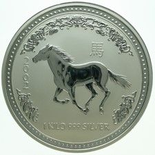 "Australië - 30 Dollars 2002 ""Year of the Horse"" - 1 kg zilver"