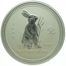 "Australië - 30 Dollars 1999 - ""Year of the Rabbit"" - 1 kg zilver"
